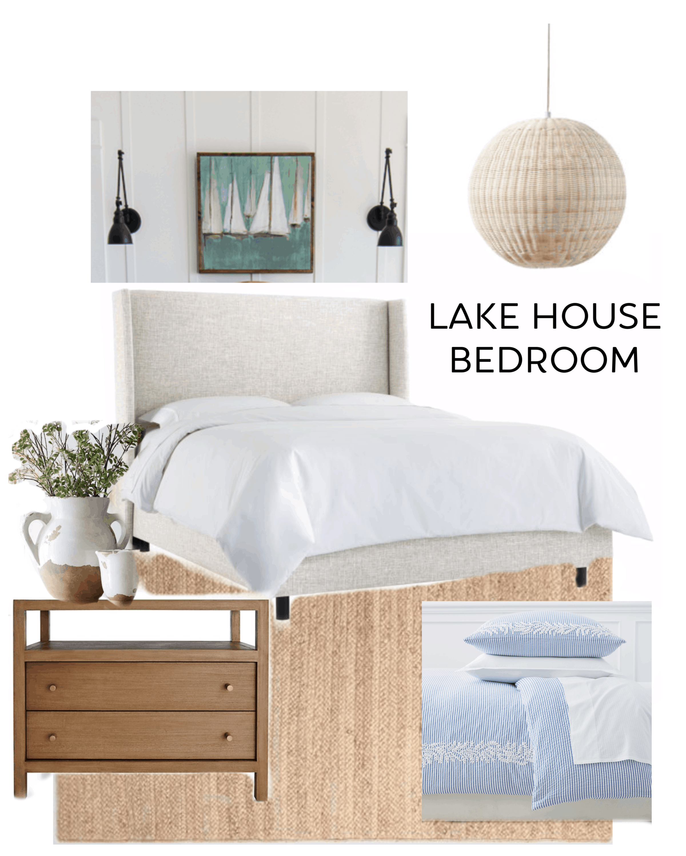 Lake House Master Bedroom Design The Lilypad Cottage