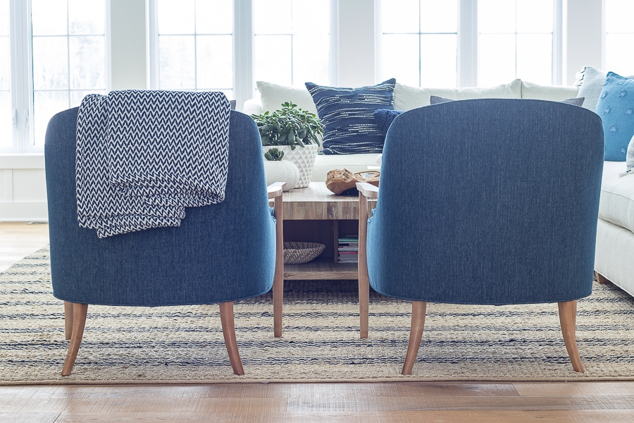 navy accent chairs