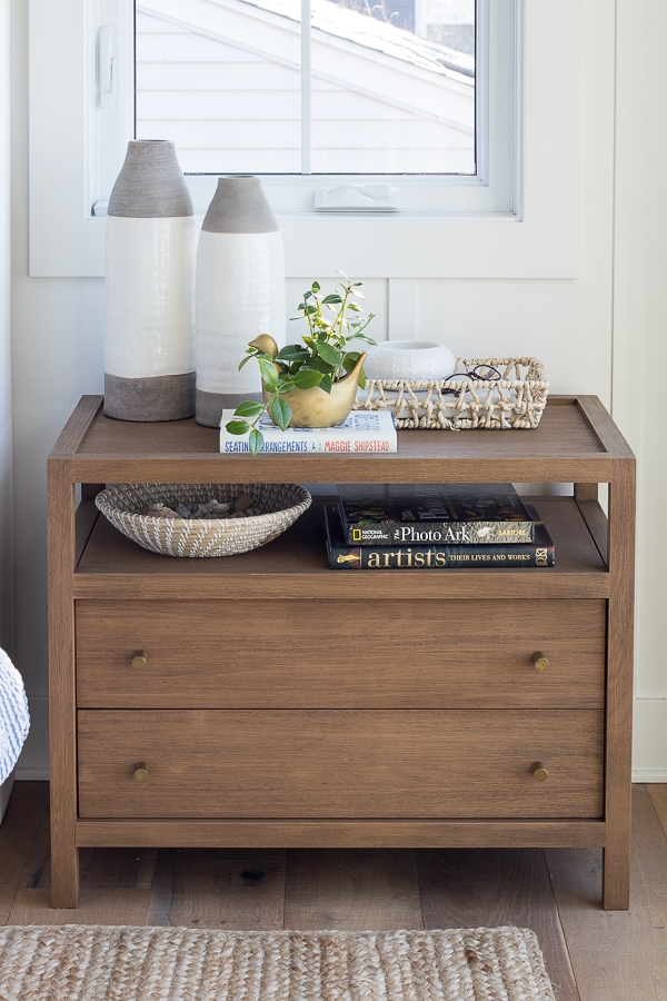 wood 2 drawer nightstands