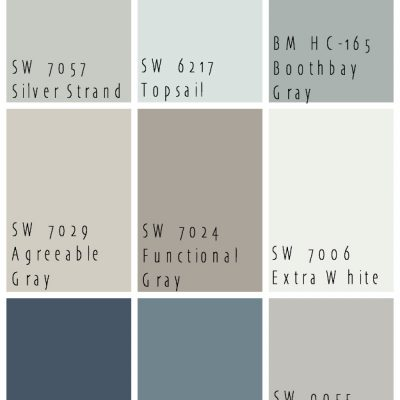 Lake House Blue and Gray Paint Colors