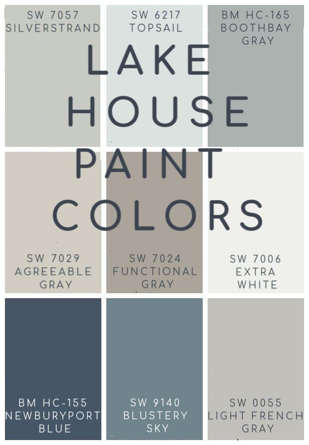 Lake House Blue And Gray Paint Colors The Lilypad Cottage