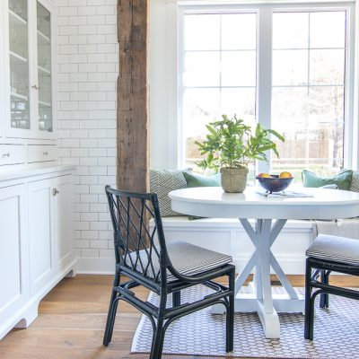 White Breakfast Nook Table