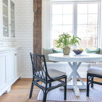 White Breakfast Nook Table