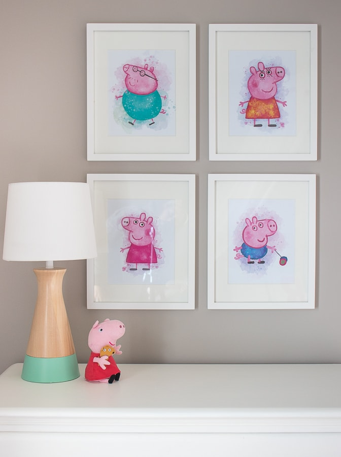 Peppa pig toddler girl bedroom