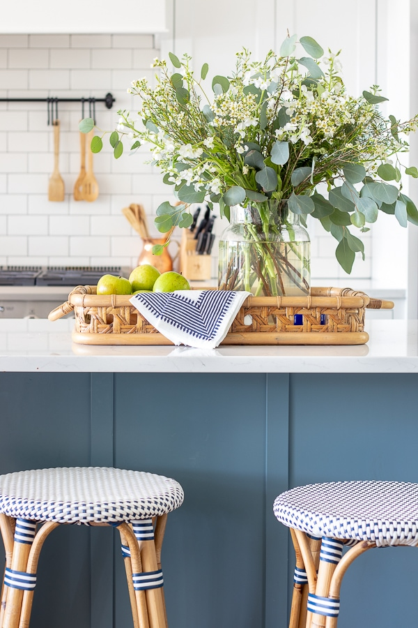 White Kitchen and Bar Stool Update - The Lilypad Cottage