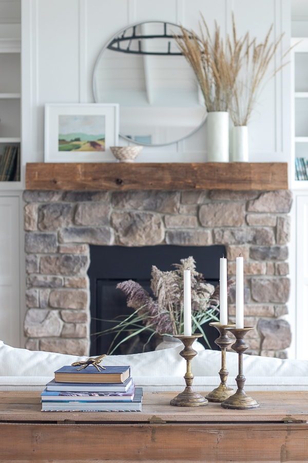 green and neutral simple fall home decor