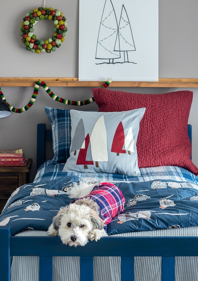 Boy Christmas Bedroom Decor - The Lilypad Cottage