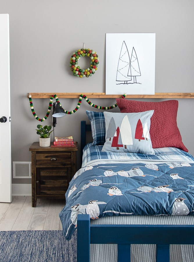 Boys Christmas Bedroom Decor