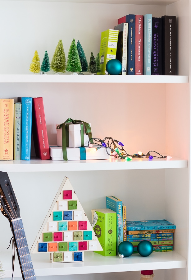 bright and colorful Christmas decor