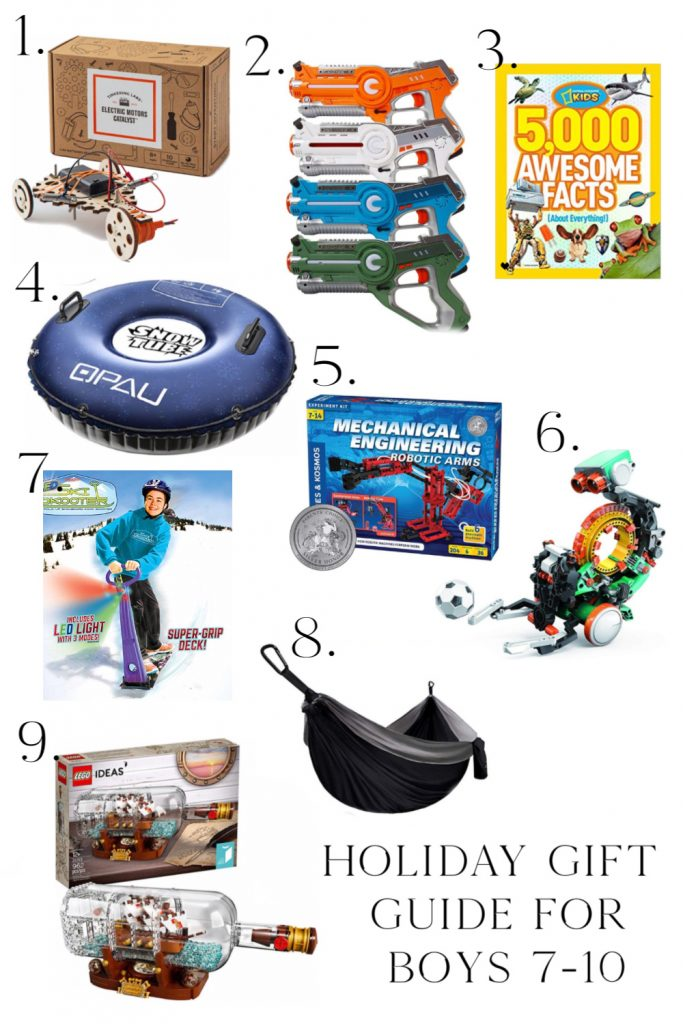 Holiday Gift Guide for Boys 7-10 years old