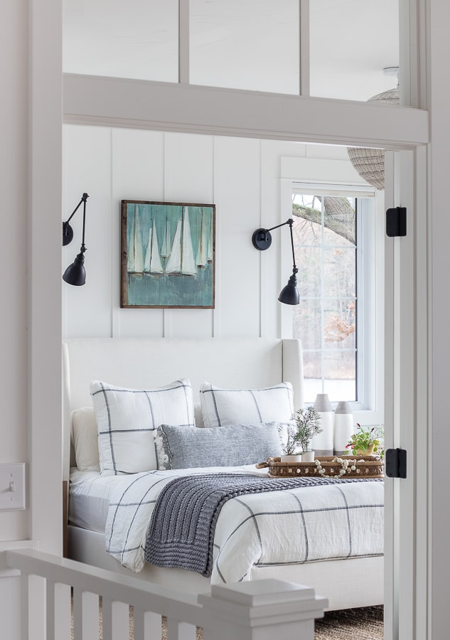 Cozy Winter Master Bedroom - The Lilypad Cottage
