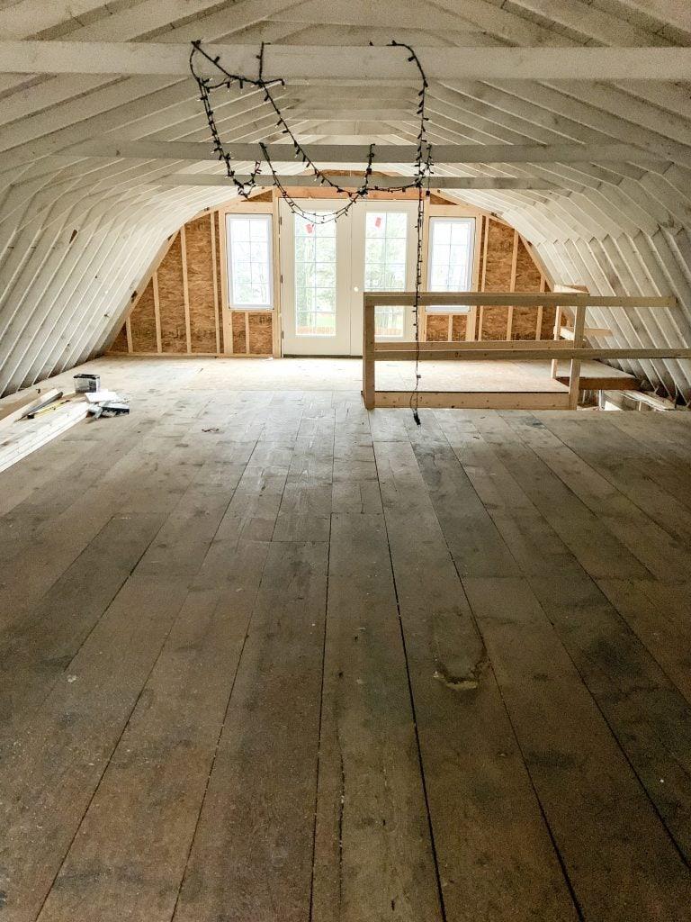 pool house renovation progress