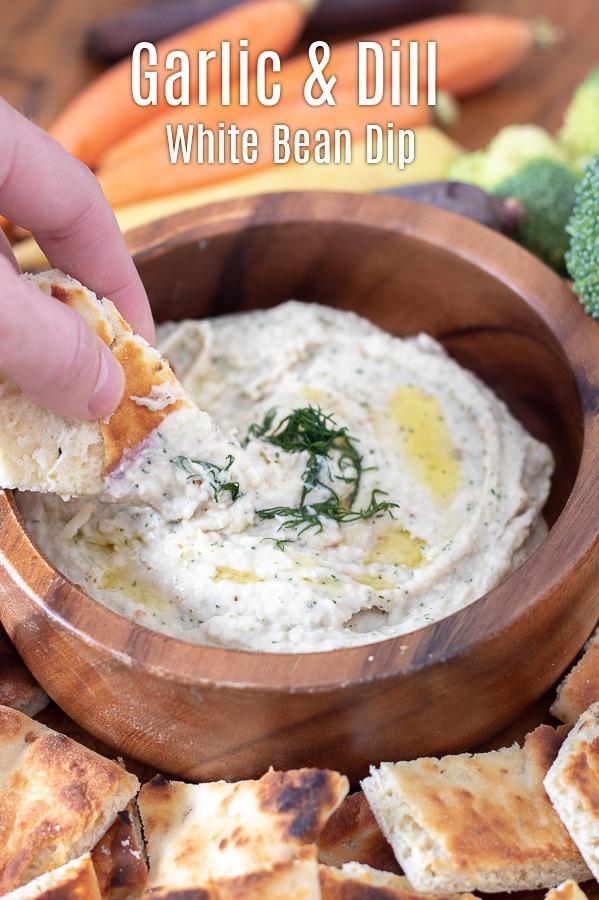 garlic and dill white bean dip