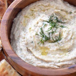 Garlic Dill White Bean Dip.
