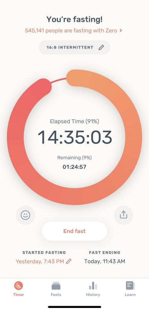 zero app for intermittent fasting