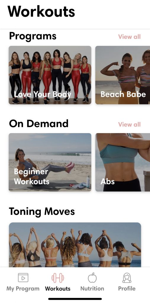 tone it up workout app