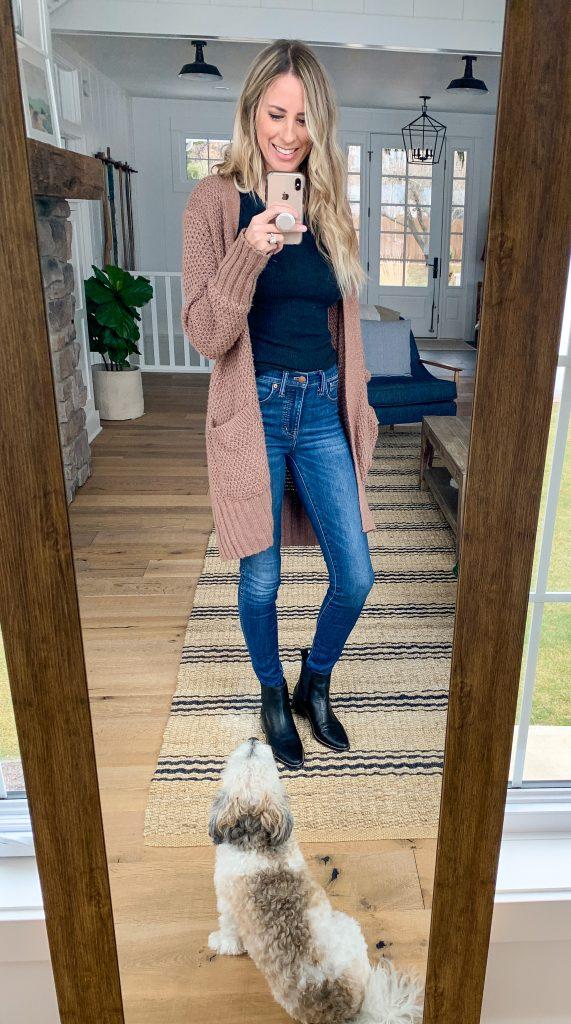 Madewell dark skinny jeans