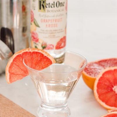 Grapefruit Rose Elderflower Martini