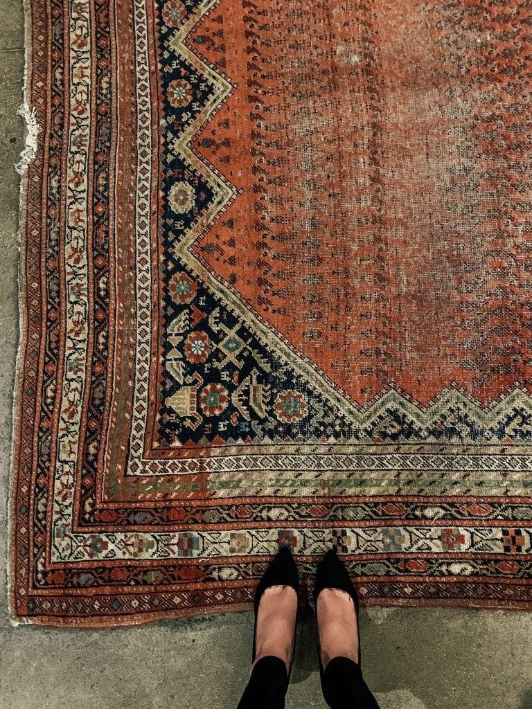 vintage rug Foundation Hotel lobby