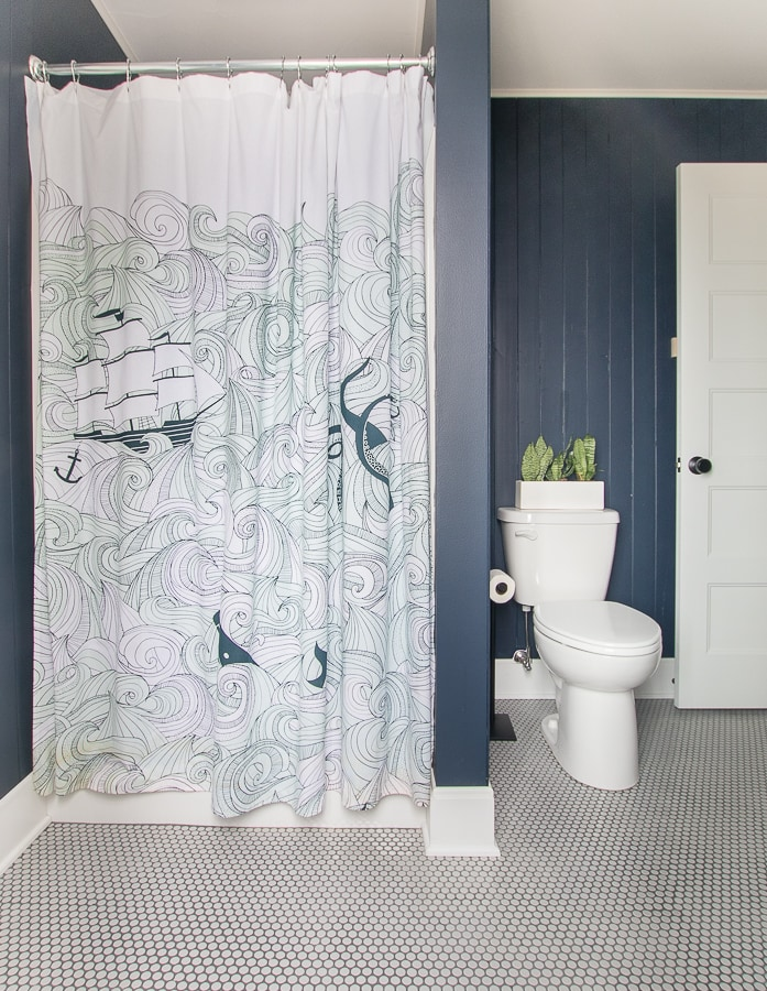 nautical shower curtain boys bathroom