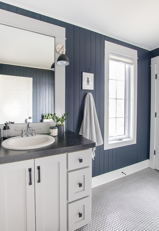Navy and Gray Nautical Boys bathroom