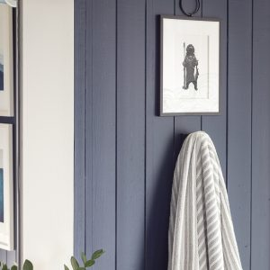 navy planked walls