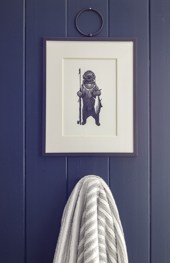 fishing bear wall art