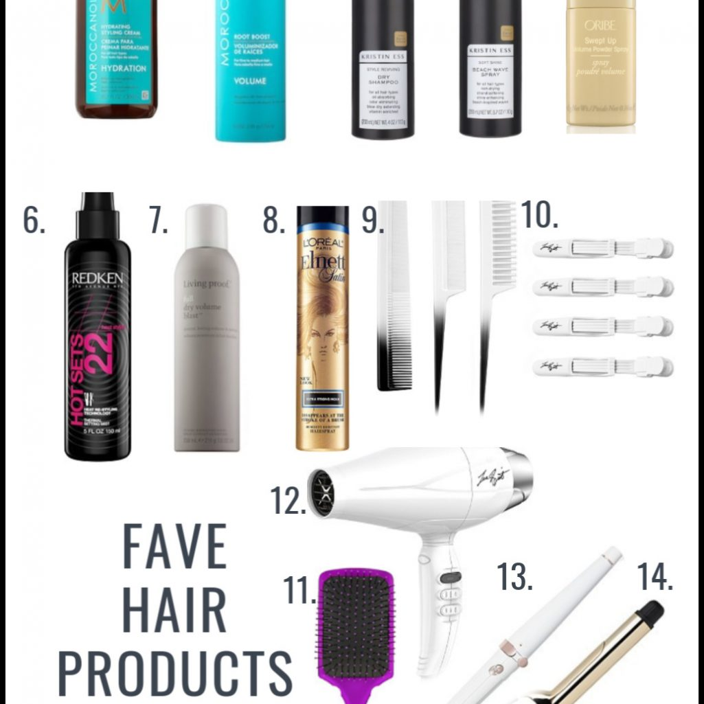 Fave Hair products and tools
