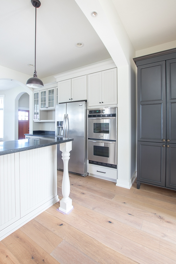 Revere Pewter Painted Cabinets