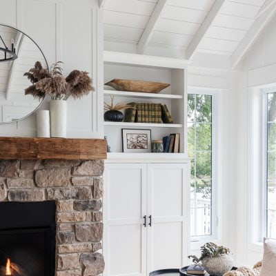 Neutral Fall Fireplace Mantel