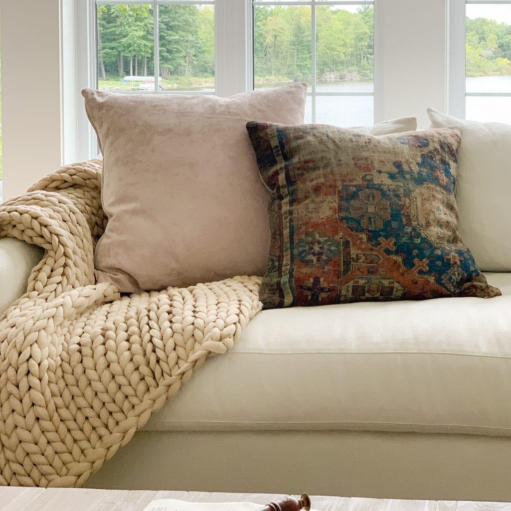 cozy fall throw pillows