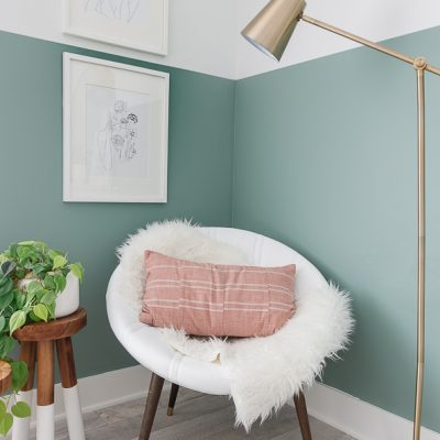 Painting a Leather Chair DIY
