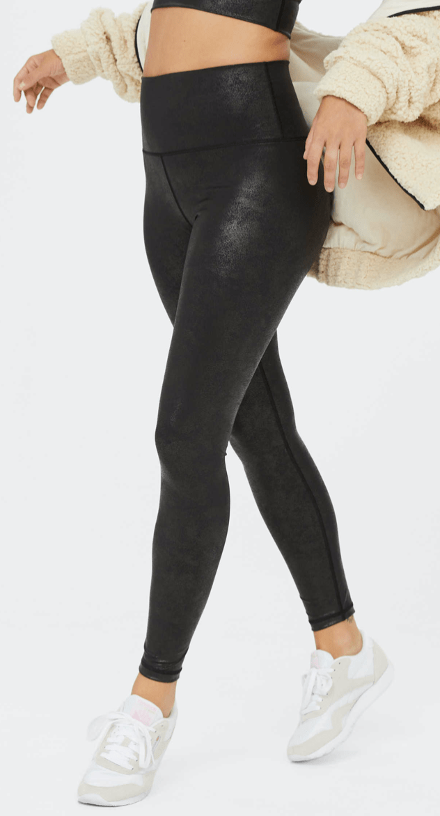 crackle black leggings