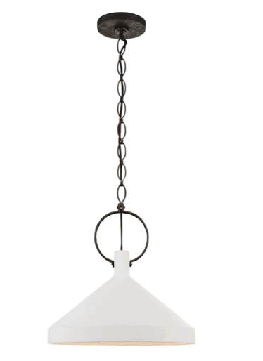 visual comfort white and black pendants