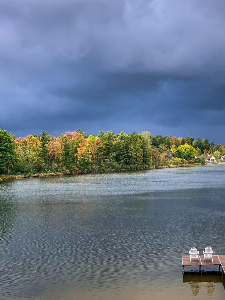 lake with fall trees