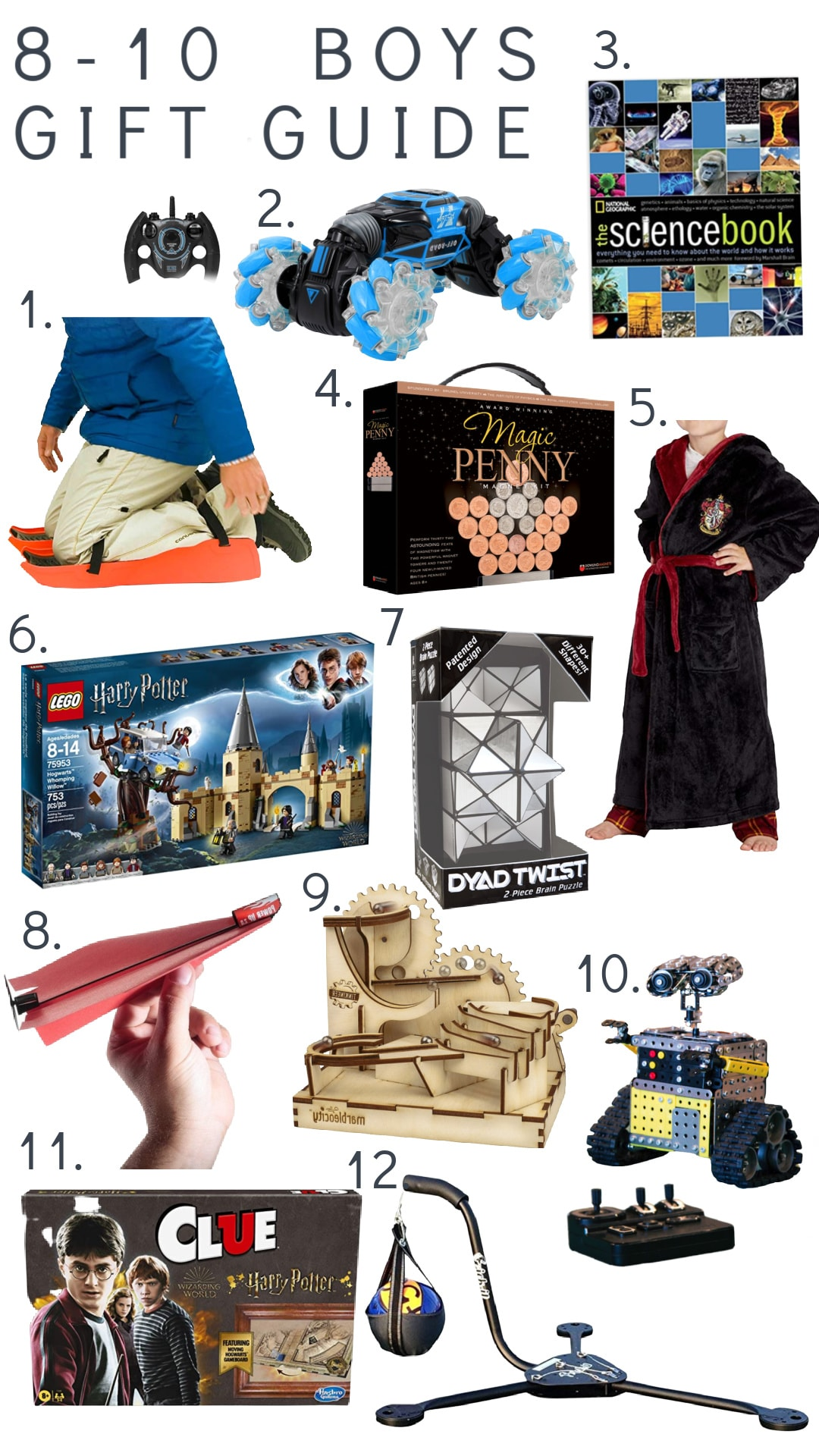 Boys Gift Guide ages 8-10