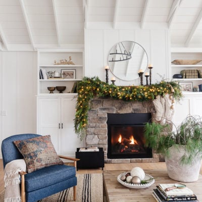 Fireplace Mantel Christmas Garland