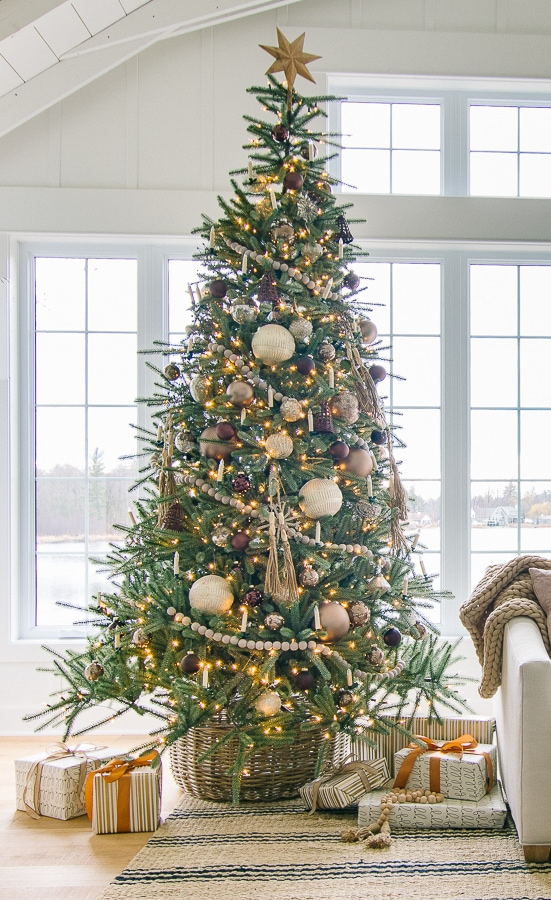 Bronze and Neutral Metallic Christmas Tree