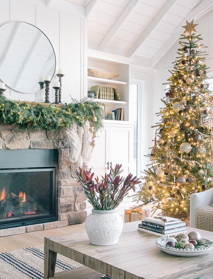 Bronze and Neutral Metallic Christmas Tree