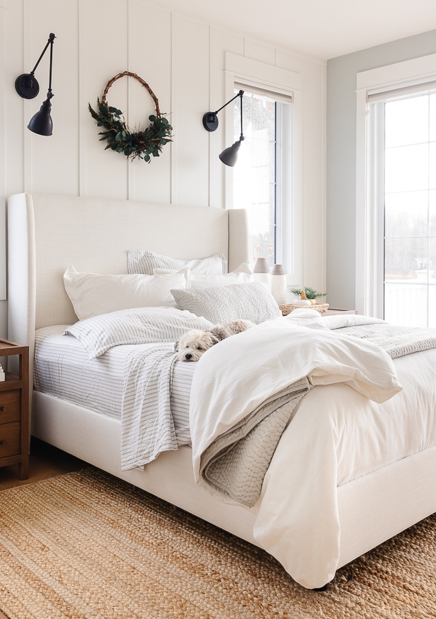 White flannel duvet cover