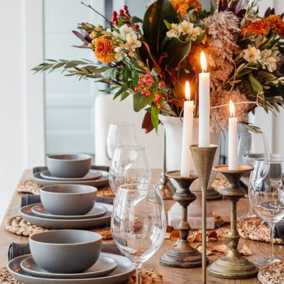 Neutral Thanksgiving Tablescape