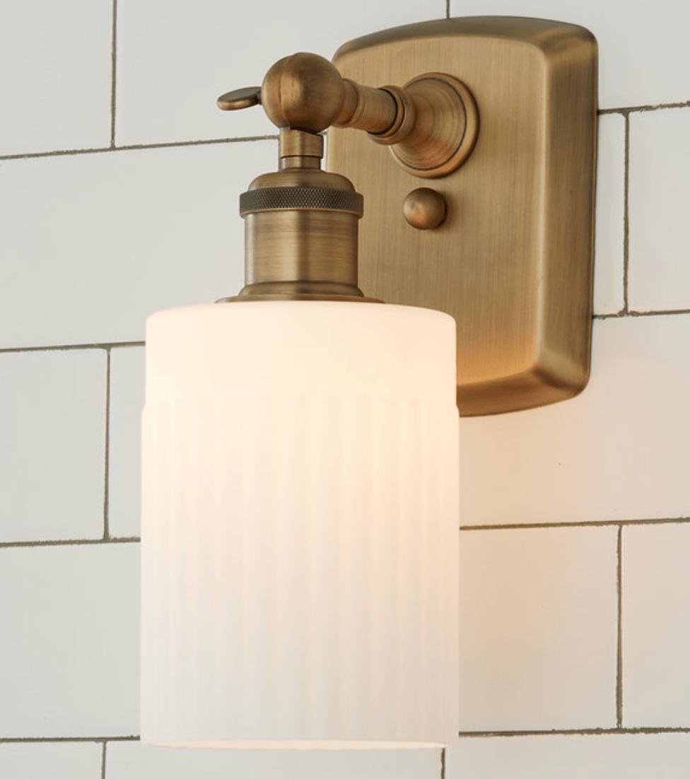 brass bathroom sconces