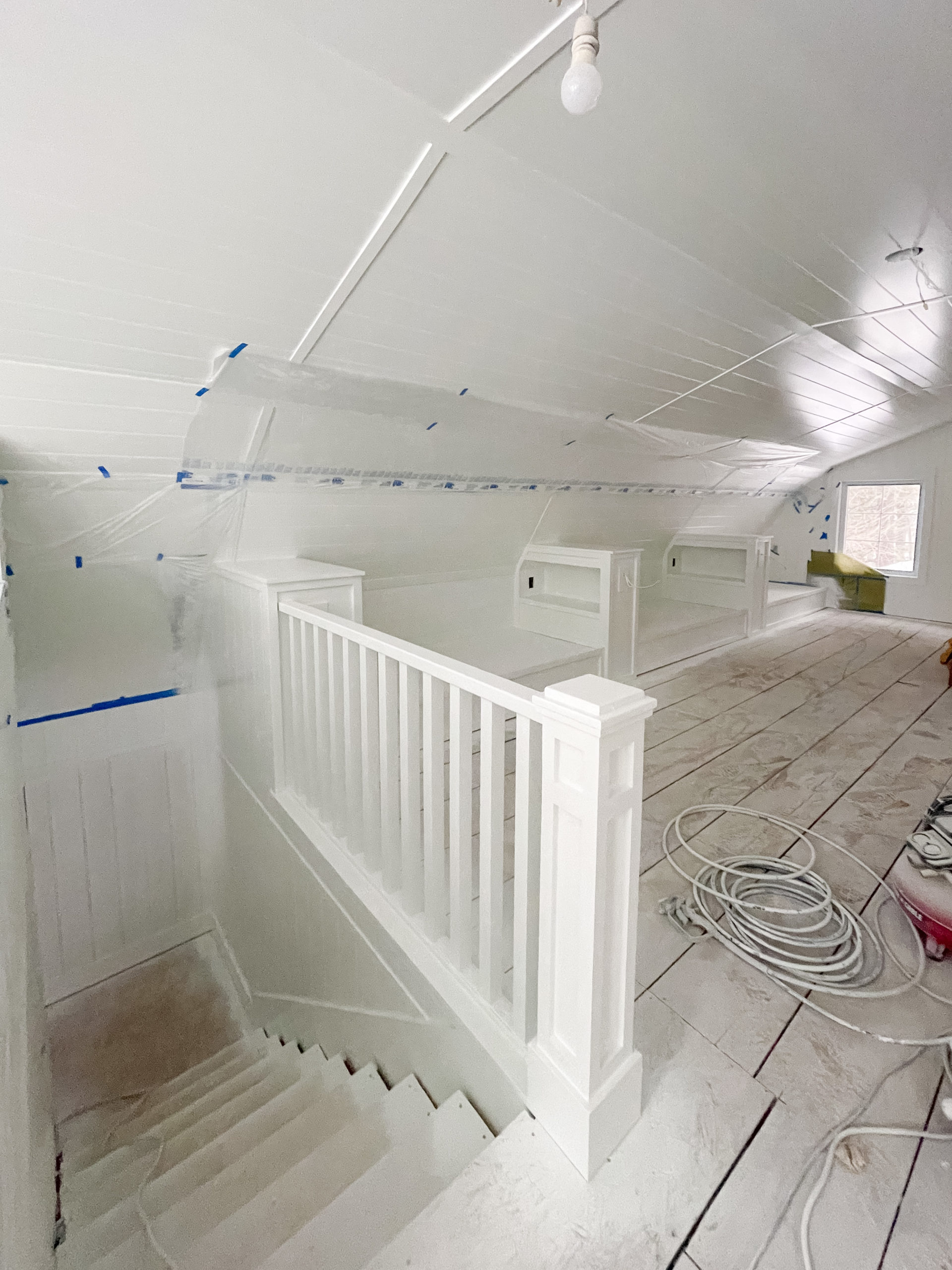 Extra White by Sherwin Williams Painted paneled walls
