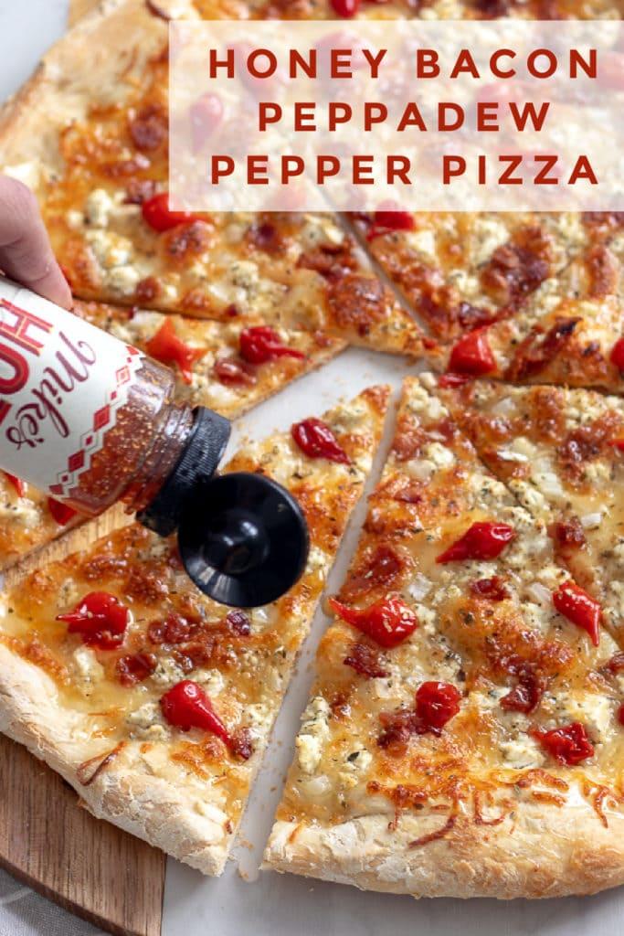 Honey Bacon Peppadew Pepper Pizza