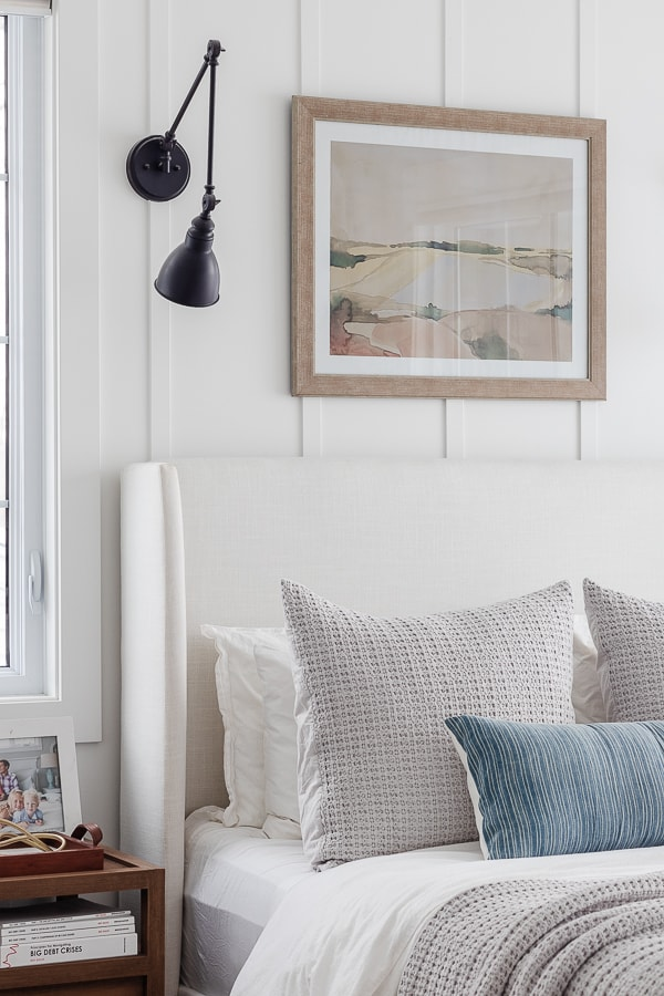 coastal art above bed painting