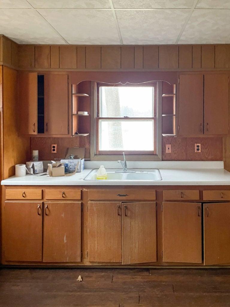 wooden kitchen cottage