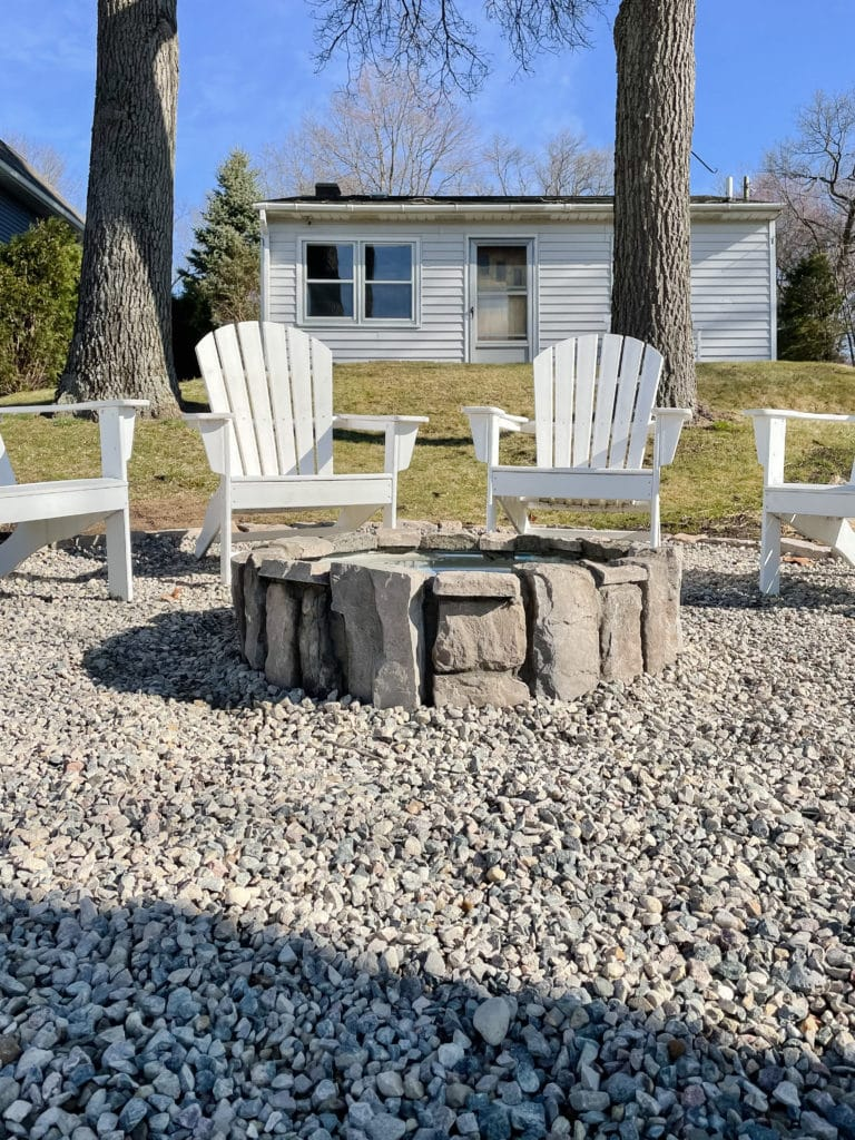 stone fire pit area