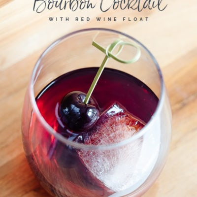Amaretto Bourbon Cocktail with Red Wine Float