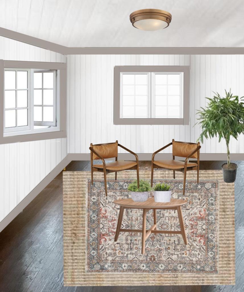 Guest cottage living room design boards