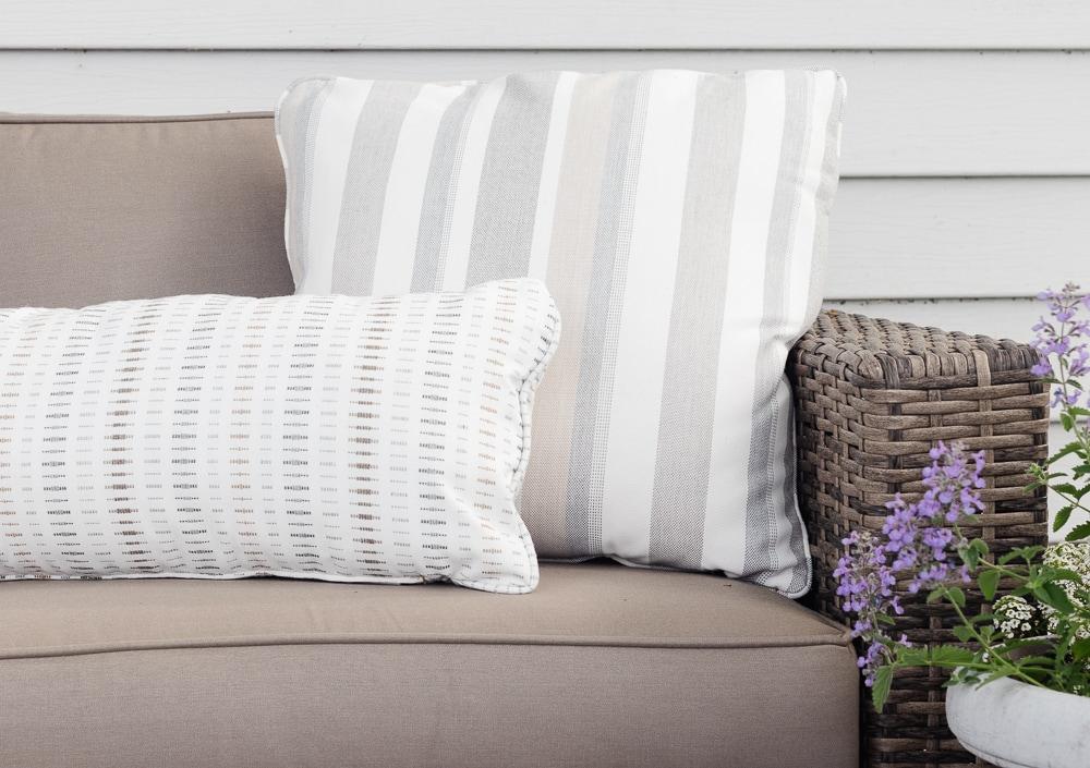 gray sunbrella pillows